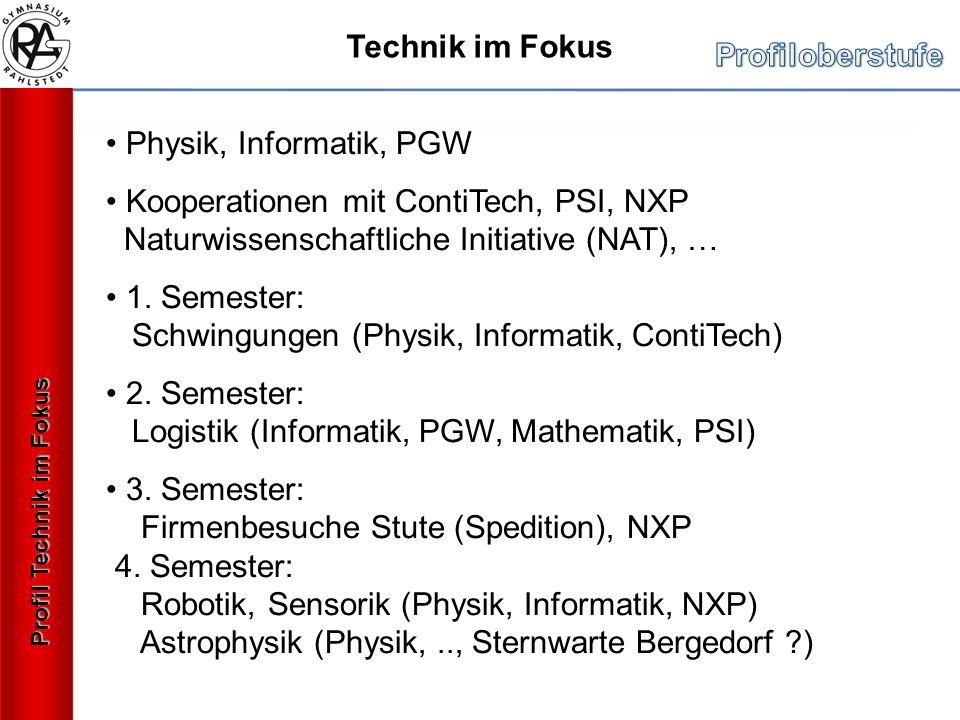1. Semester: Schwingungen (Physik, Informatik, ContiTech)