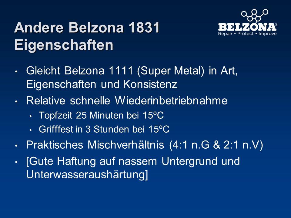 Andere Belzona 1831 Eigenschaften