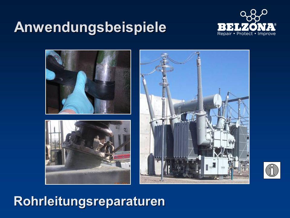 Anwendungsbeispiele Rohrleitungsreparaturen