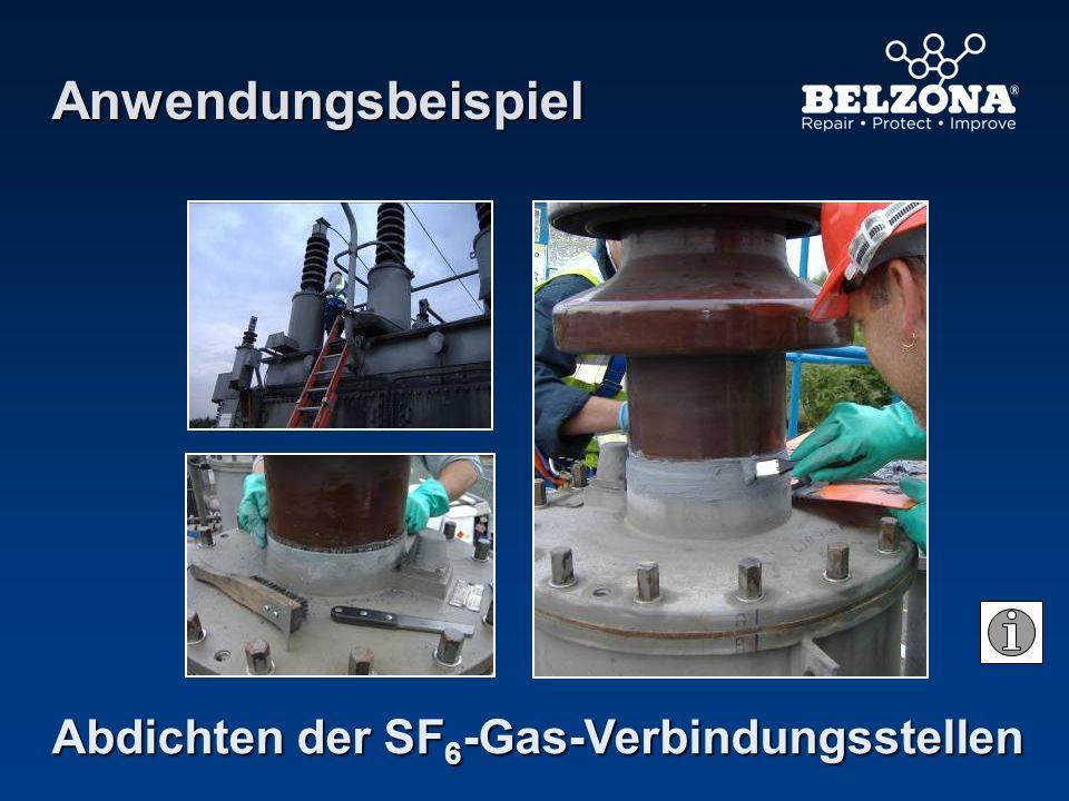 Anwendungsbeispiel Abdichten der SF6-Gas-Verbindungsstellen