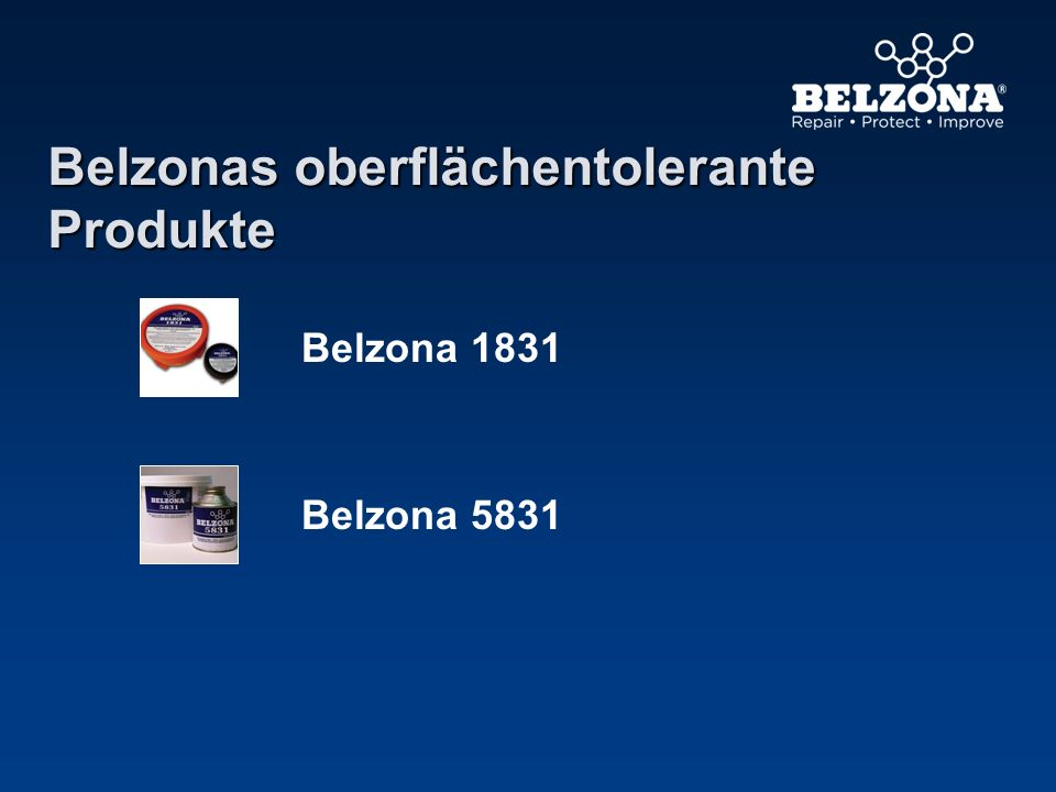 Belzonas oberflächentolerante Produkte