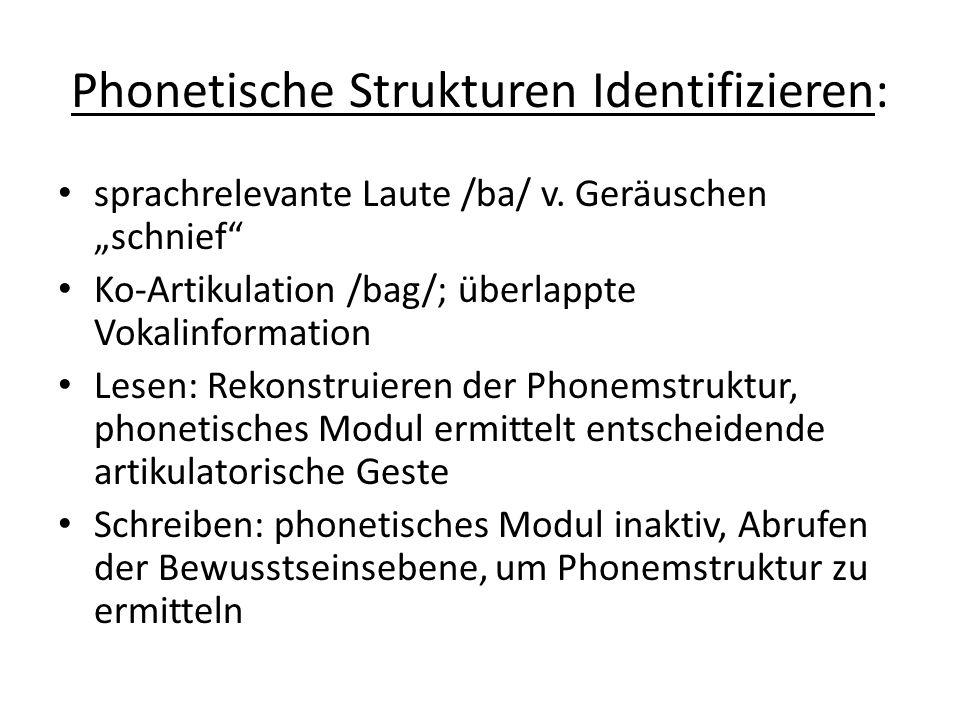 Phonetische Strukturen Identifizieren: