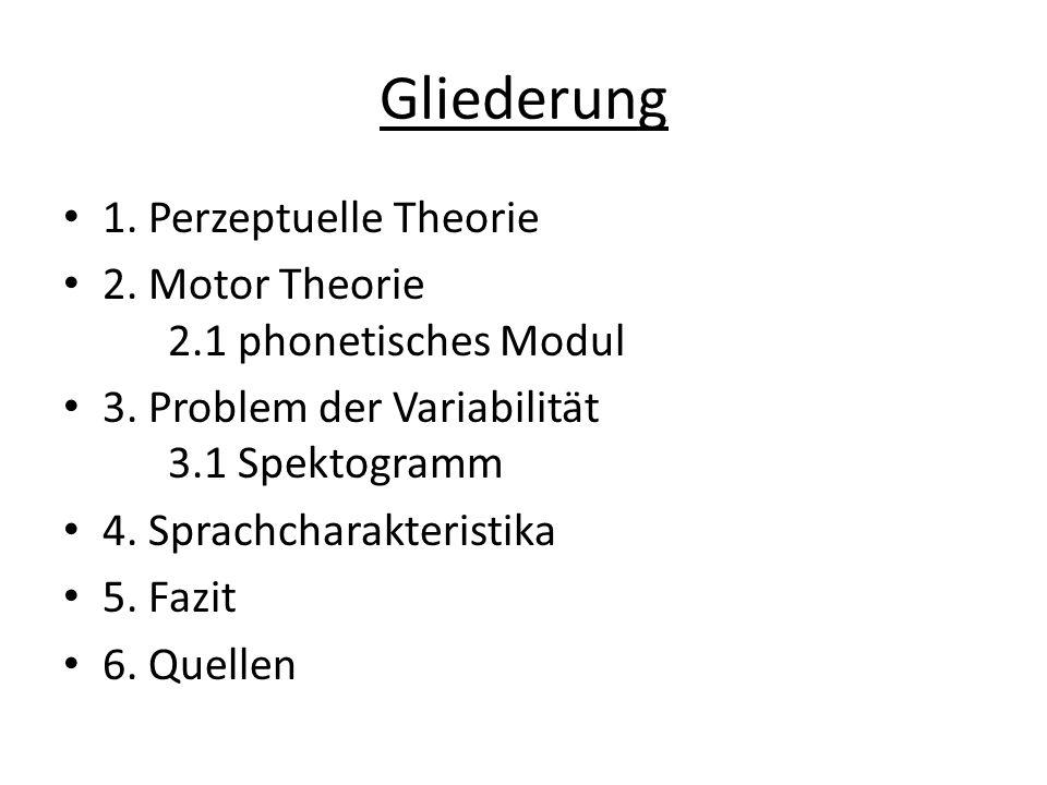Gliederung 1. Perzeptuelle Theorie