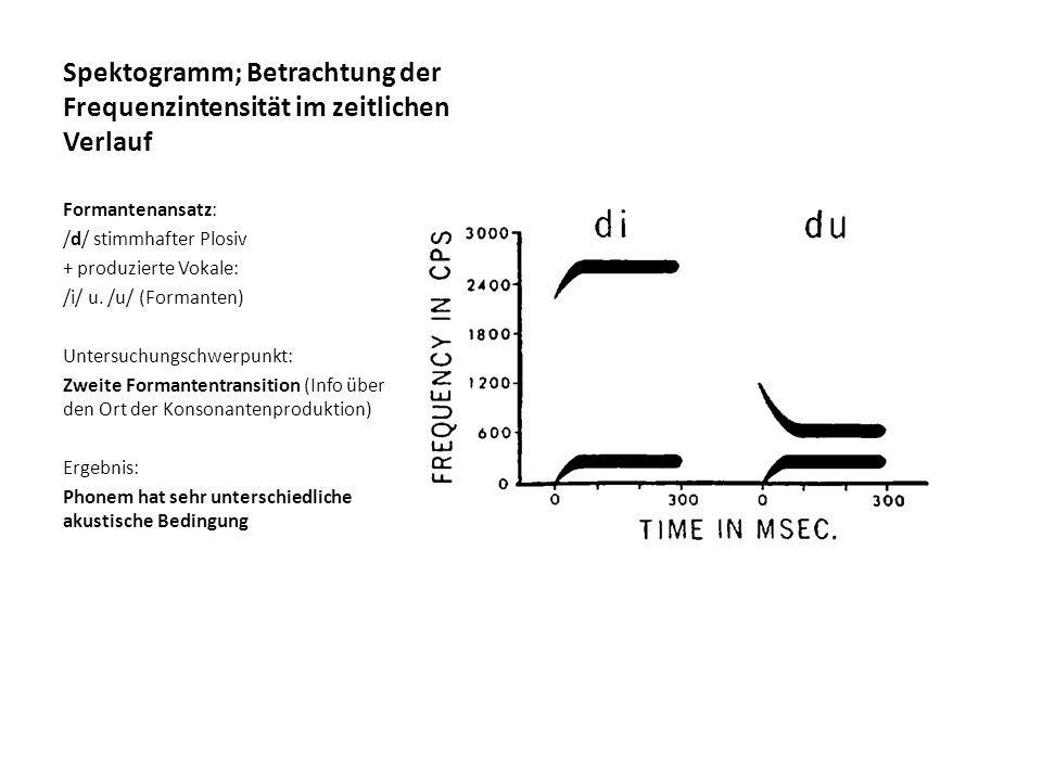 Spektogramm; Betrachtung der Frequenzintensität im zeitlichen Verlauf