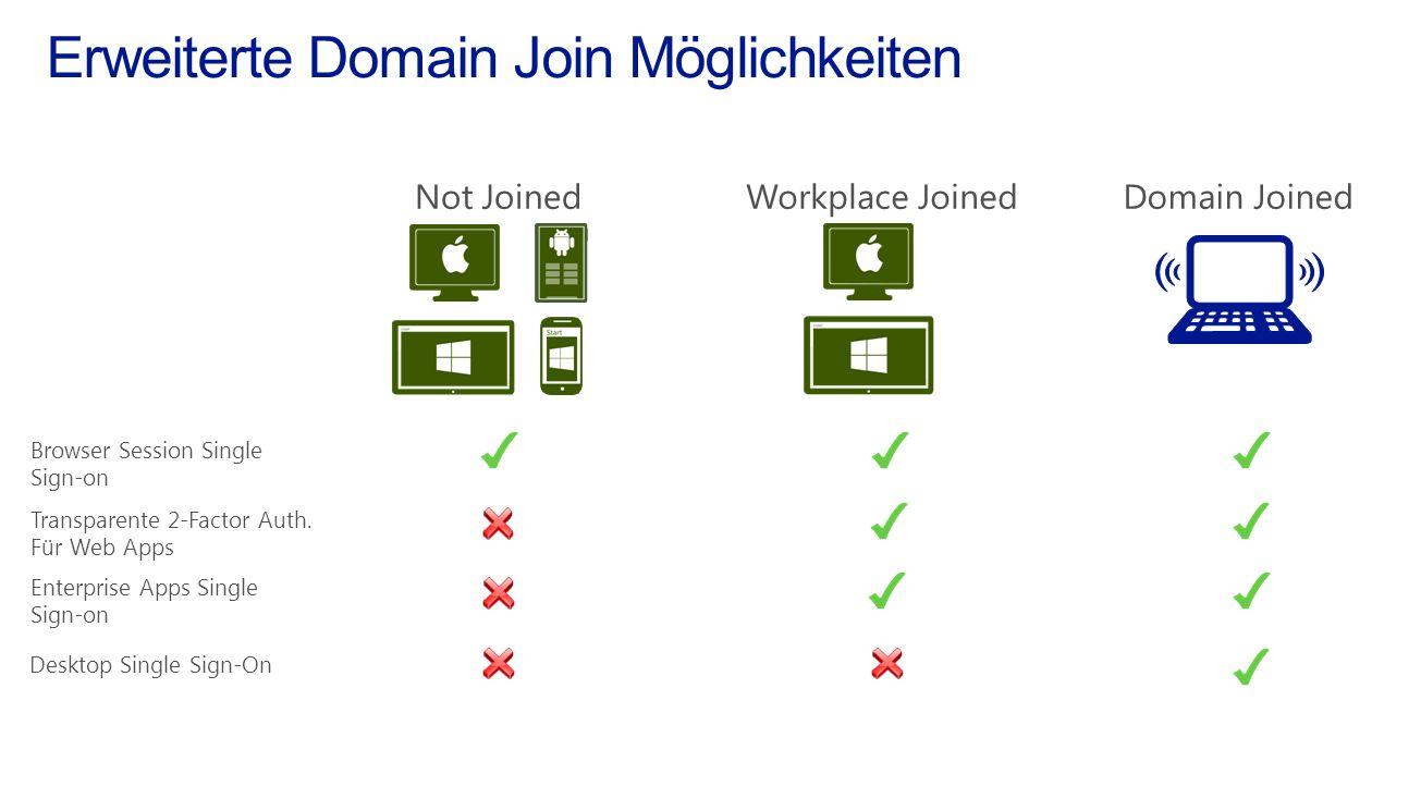 Erweiterte Domain Join Möglichkeiten