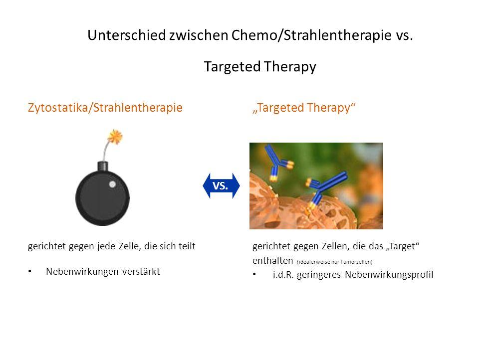 Unterschied zwischen Chemo/Strahlentherapie vs. Targeted Therapy