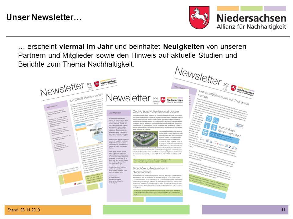 Unser Newsletter…