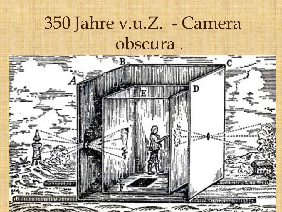 350 Jahre v.u.Z. - Camera obscura .
