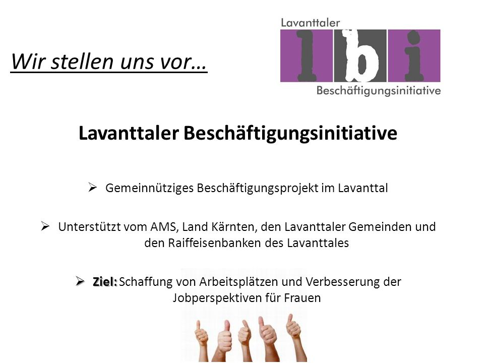 Lavanttaler Beschäftigungsinitiative