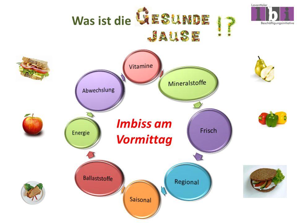 Was ist die Imbiss am Vormittag Vitamine Mineralstoffe Frisch Regional