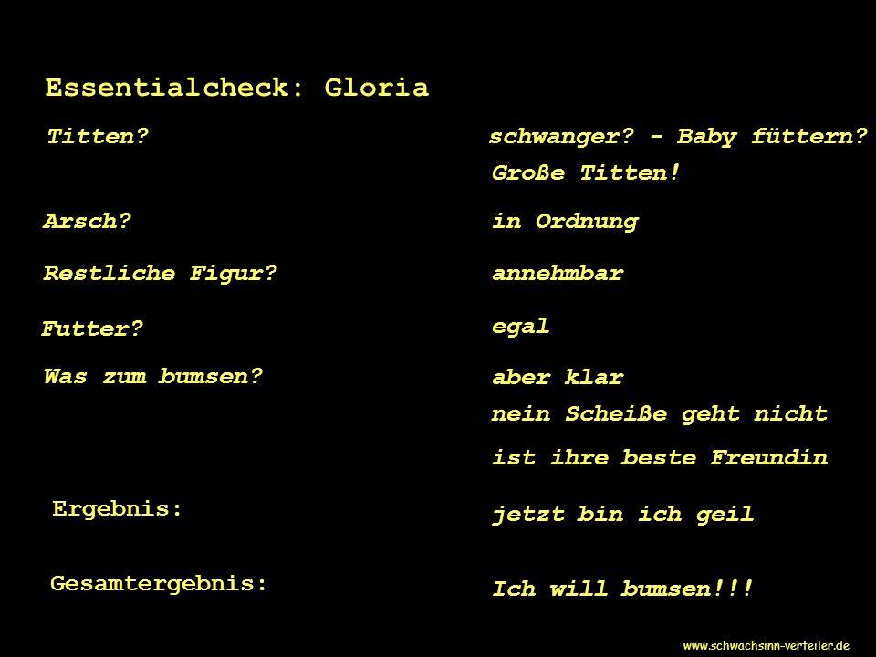 Essentialcheck: Gloria