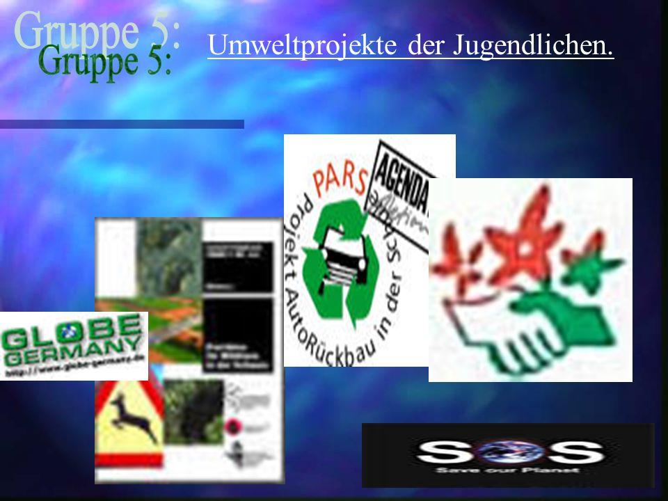 Umweltprojekte der Jugendlichen.
