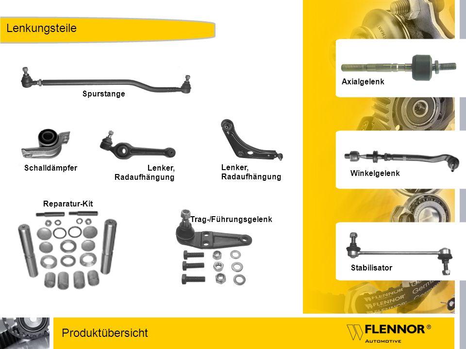 Lenkungsteile Produktübersicht Axialgelenk Spurstange Schalldämpfer