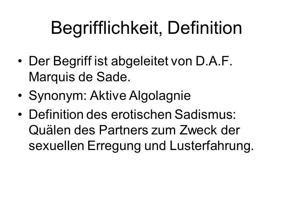 Begrifflichkeit, Definition