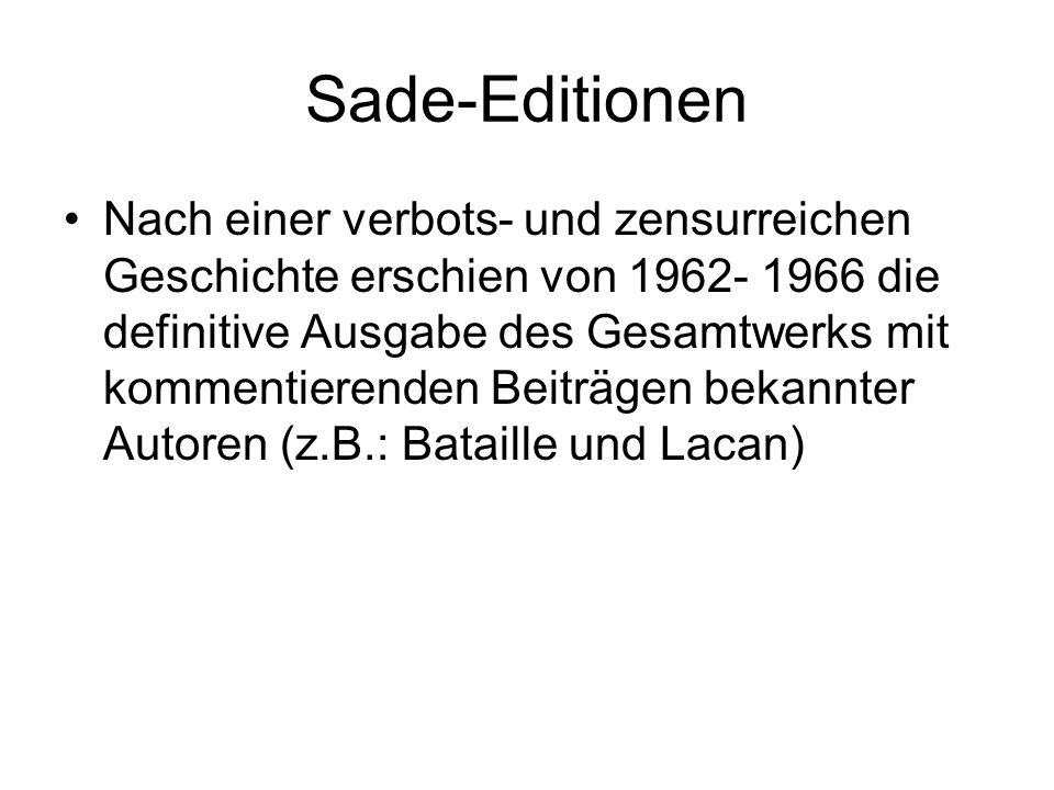 Sade-Editionen