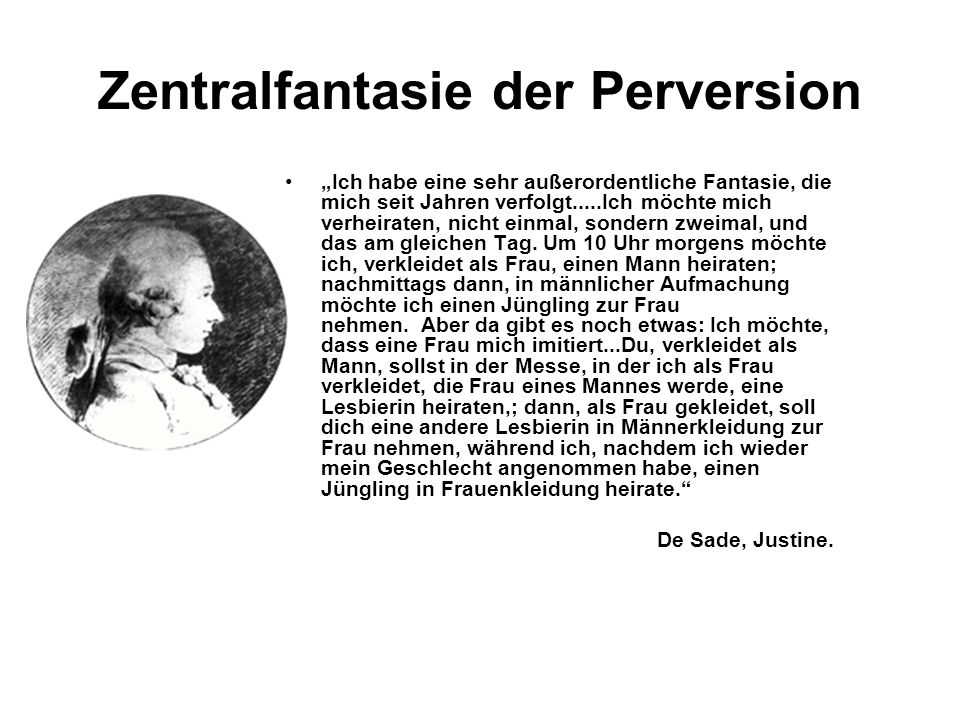 Zentralfantasie der Perversion
