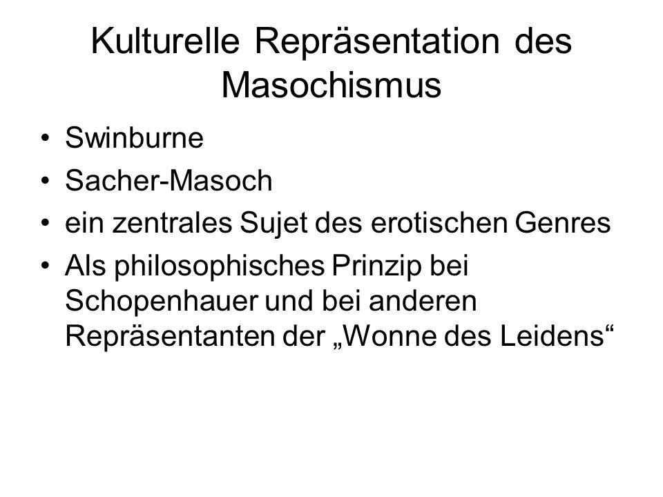 Kulturelle Repräsentation des Masochismus