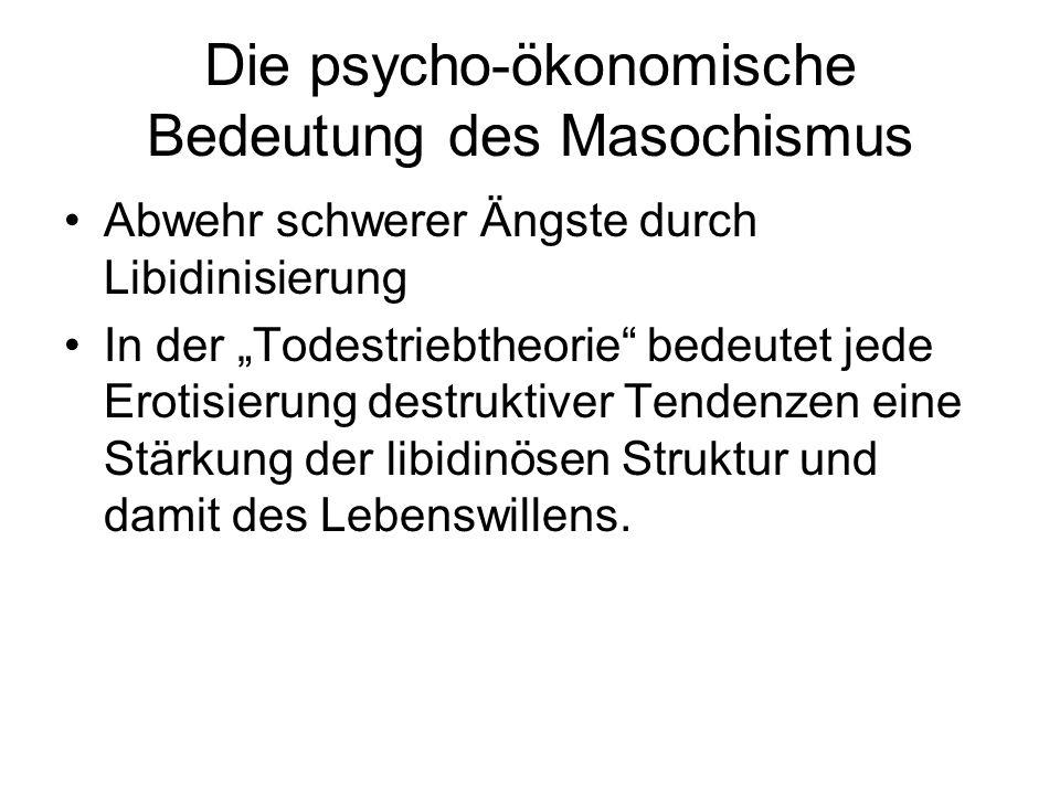 Die psycho-ökonomische Bedeutung des Masochismus