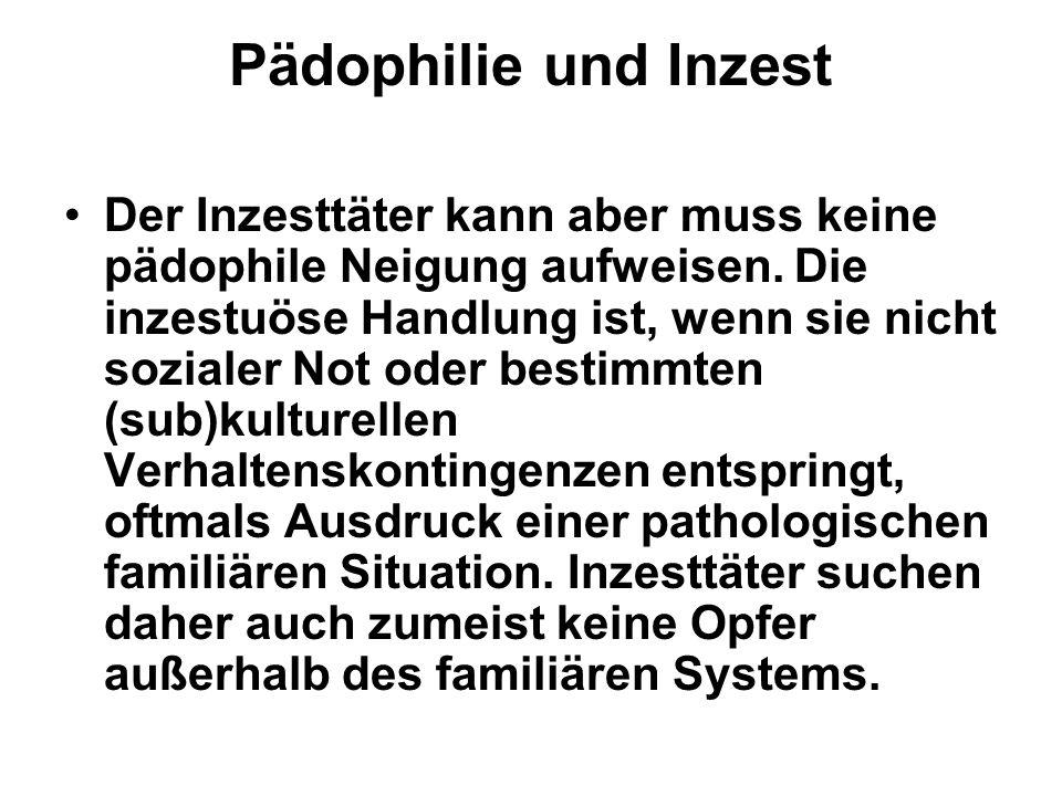 Pädophilie und Inzest