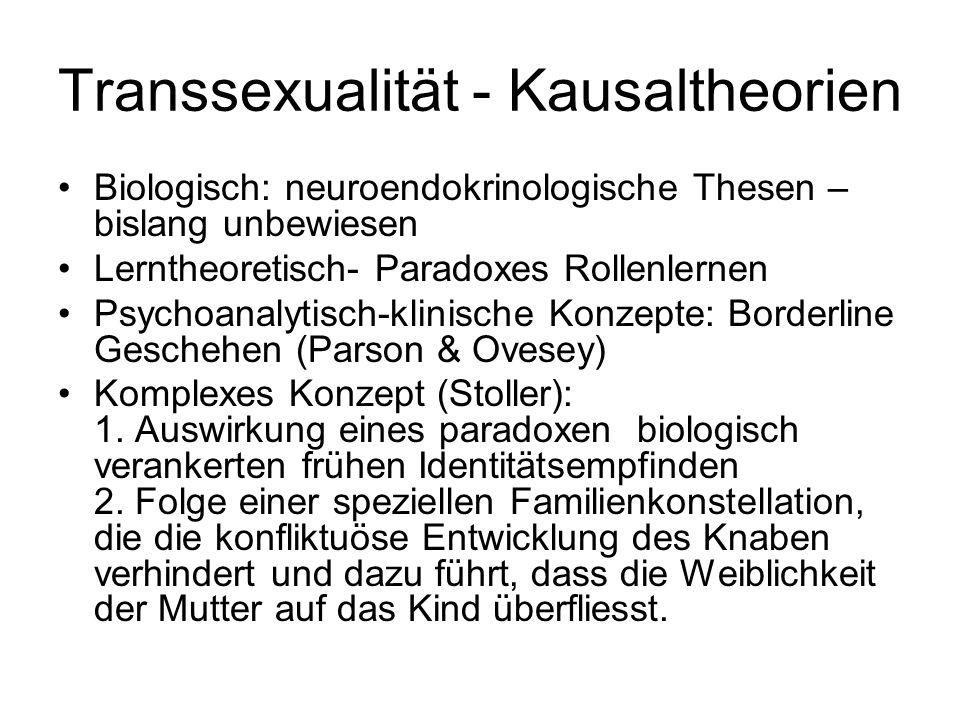 Transsexualität - Kausaltheorien