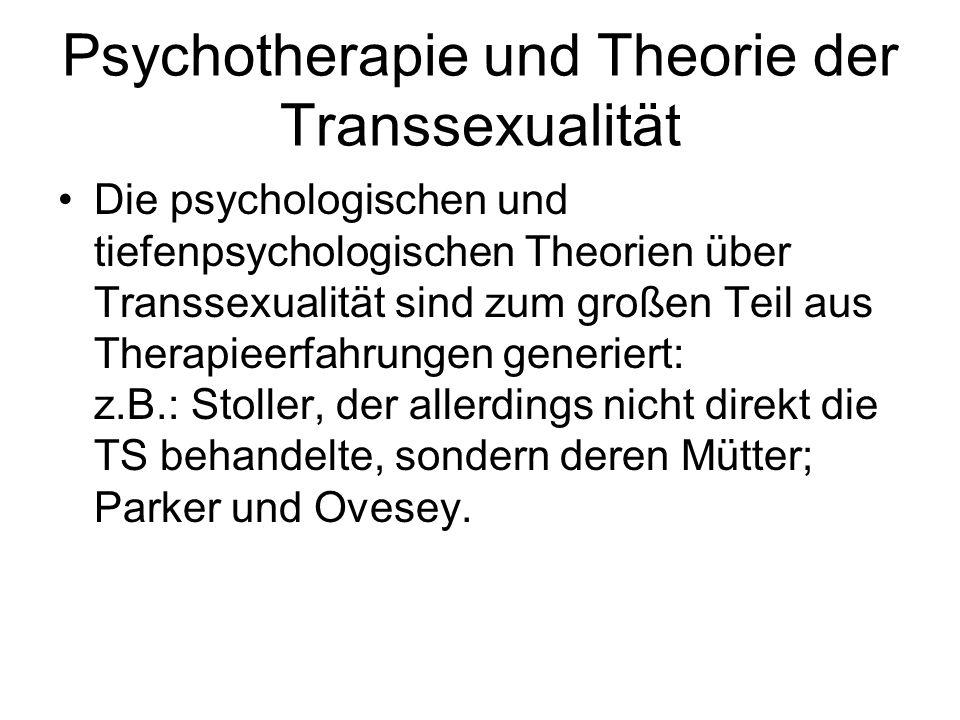 Psychotherapie und Theorie der Transsexualität