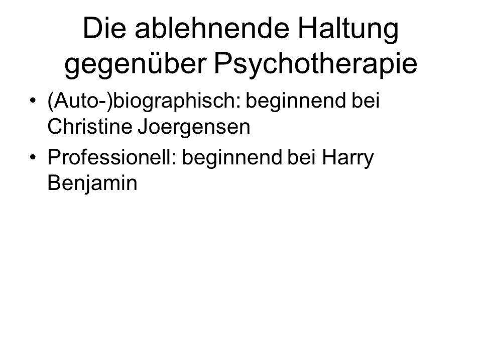 Die ablehnende Haltung gegenüber Psychotherapie