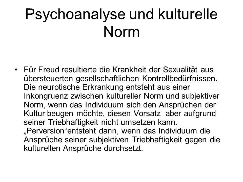 Psychoanalyse und kulturelle Norm