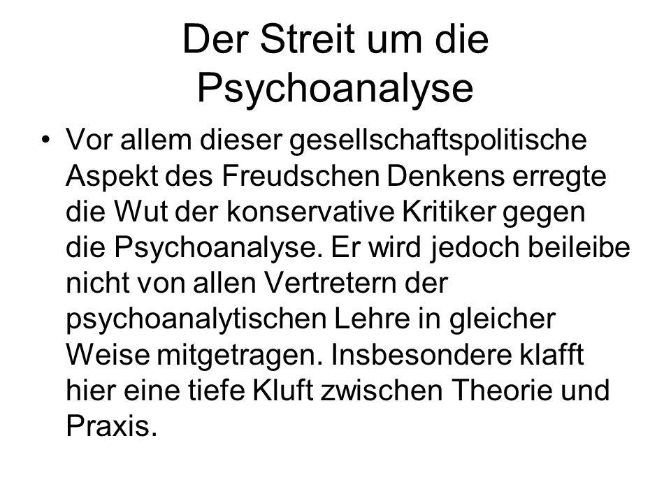 Der Streit um die Psychoanalyse