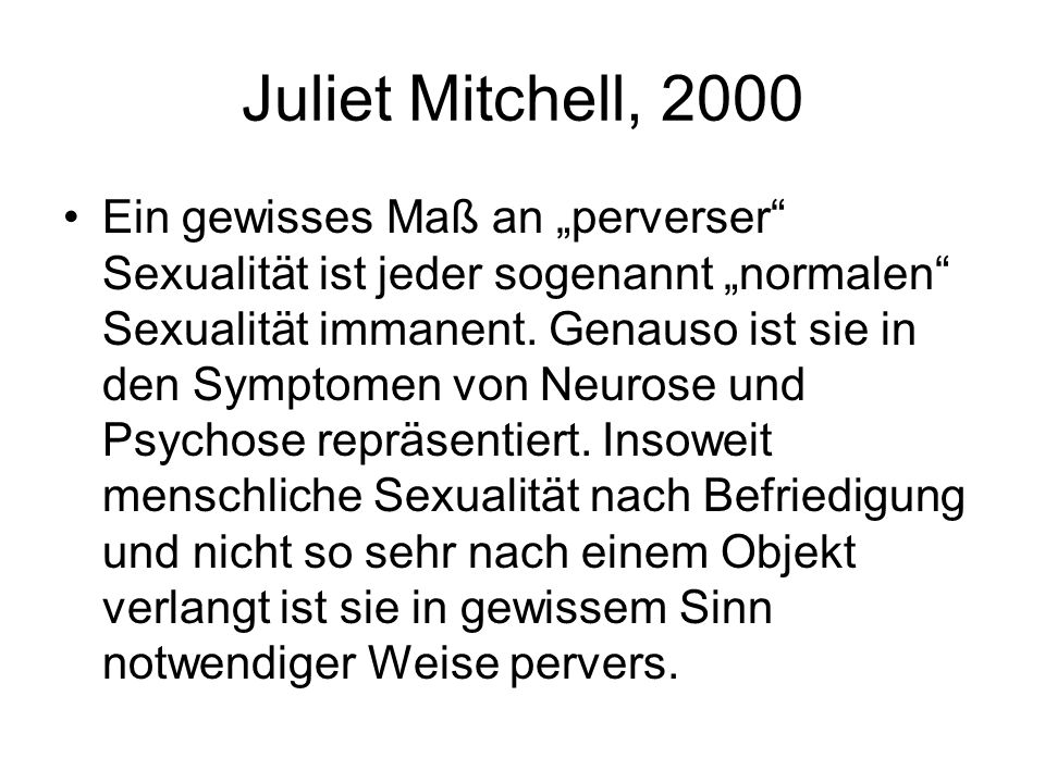Juliet Mitchell, 2000