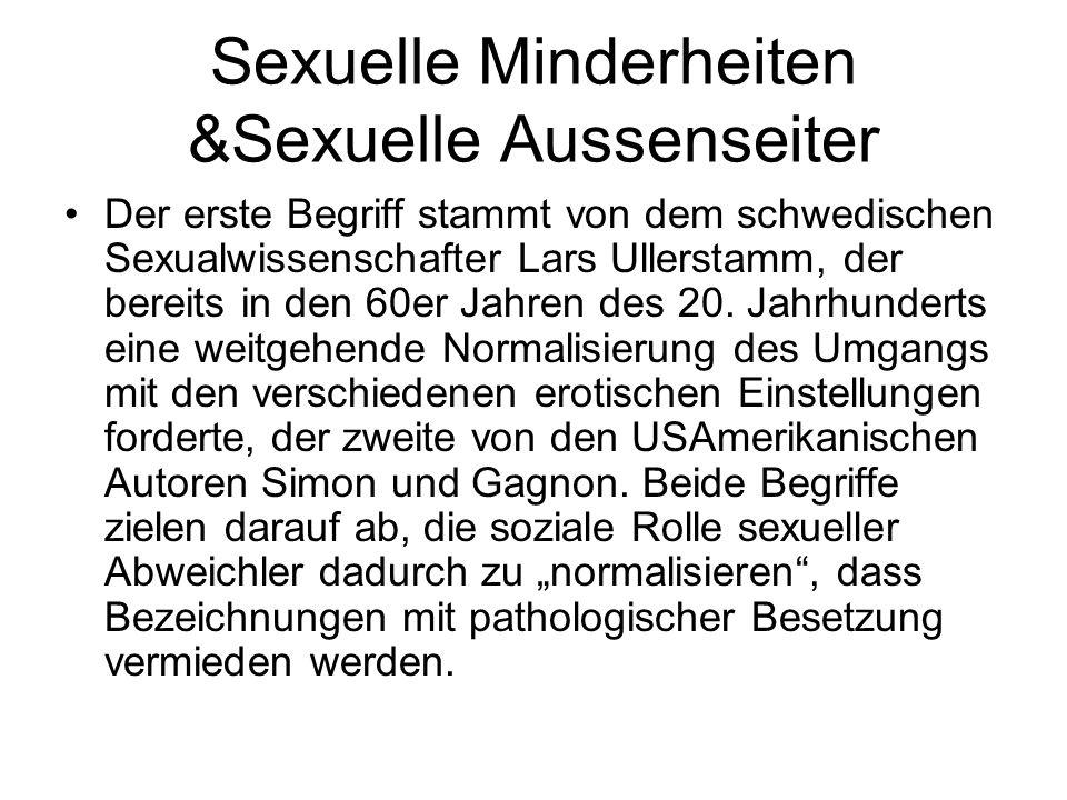 Sexuelle Minderheiten &Sexuelle Aussenseiter