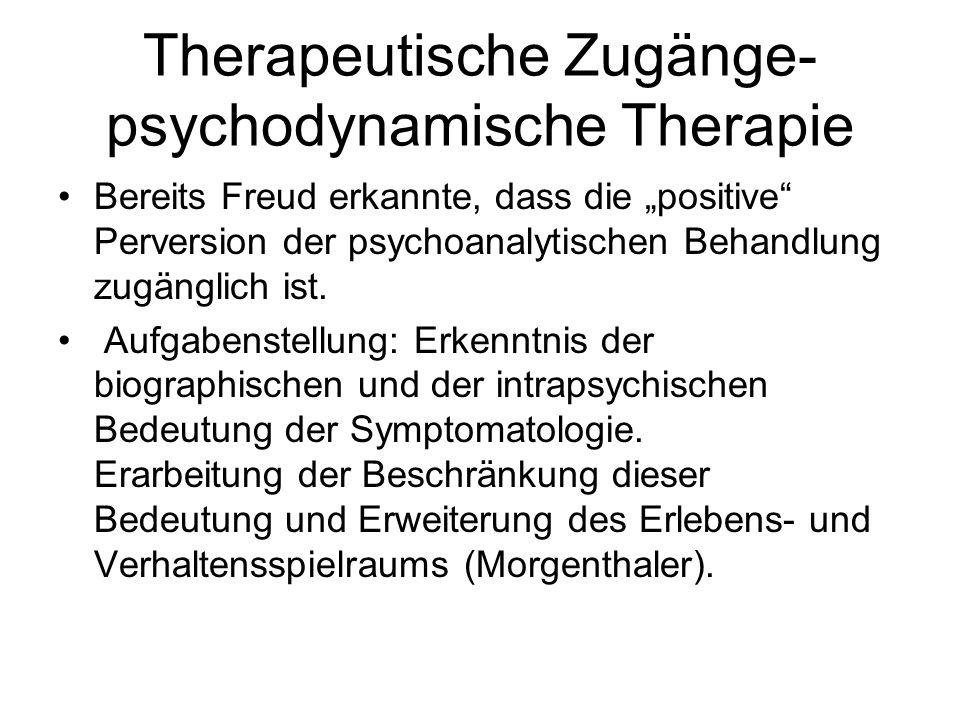 Therapeutische Zugänge-psychodynamische Therapie