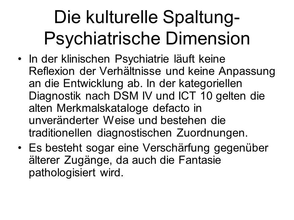 Die kulturelle Spaltung-Psychiatrische Dimension