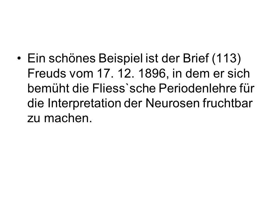 Ein schönes Beispiel ist der Brief (113) Freuds vom 17. 12