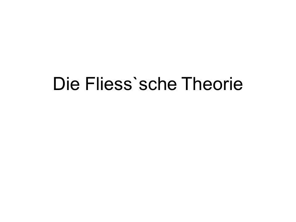 Die Fliess`sche Theorie