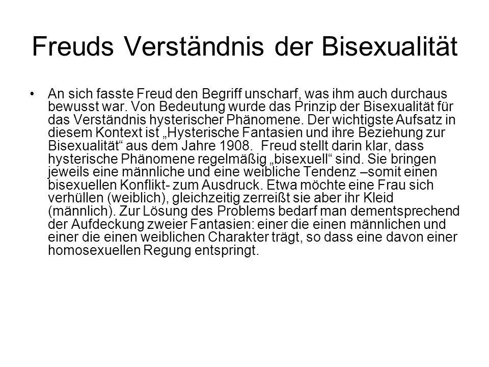 Freuds Verständnis der Bisexualität