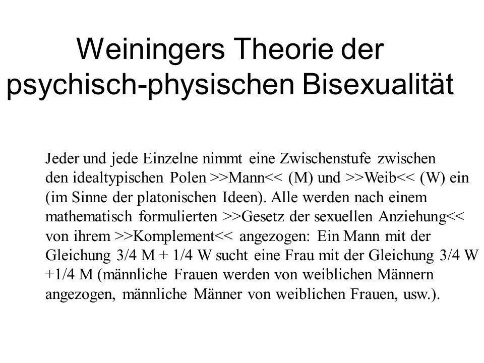 Weiningers Theorie der psychisch-physischen Bisexualität
