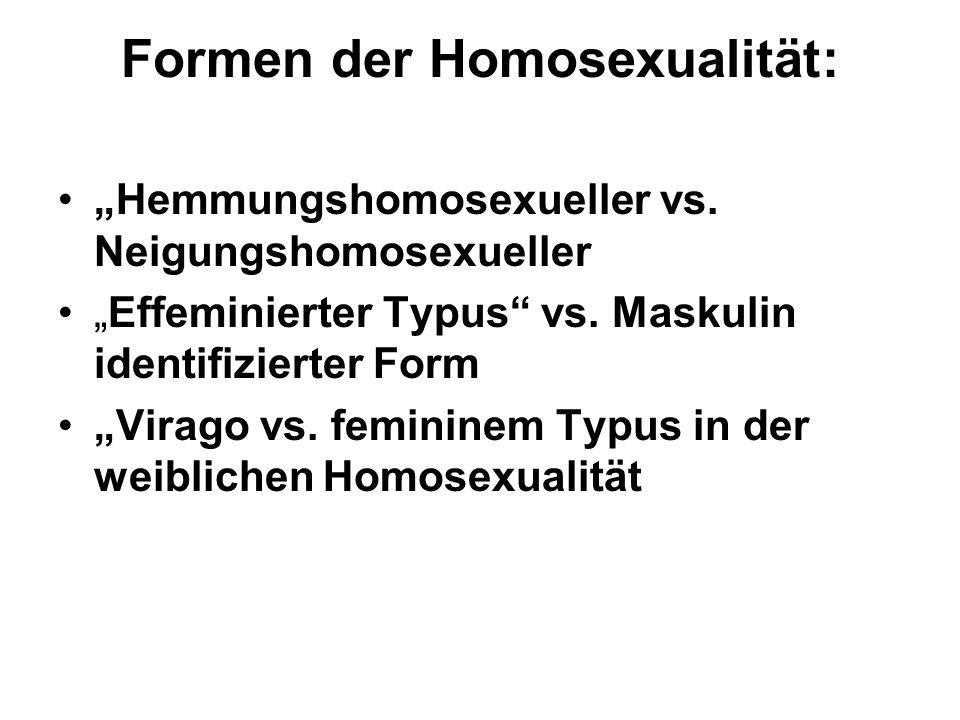 Formen der Homosexualität: