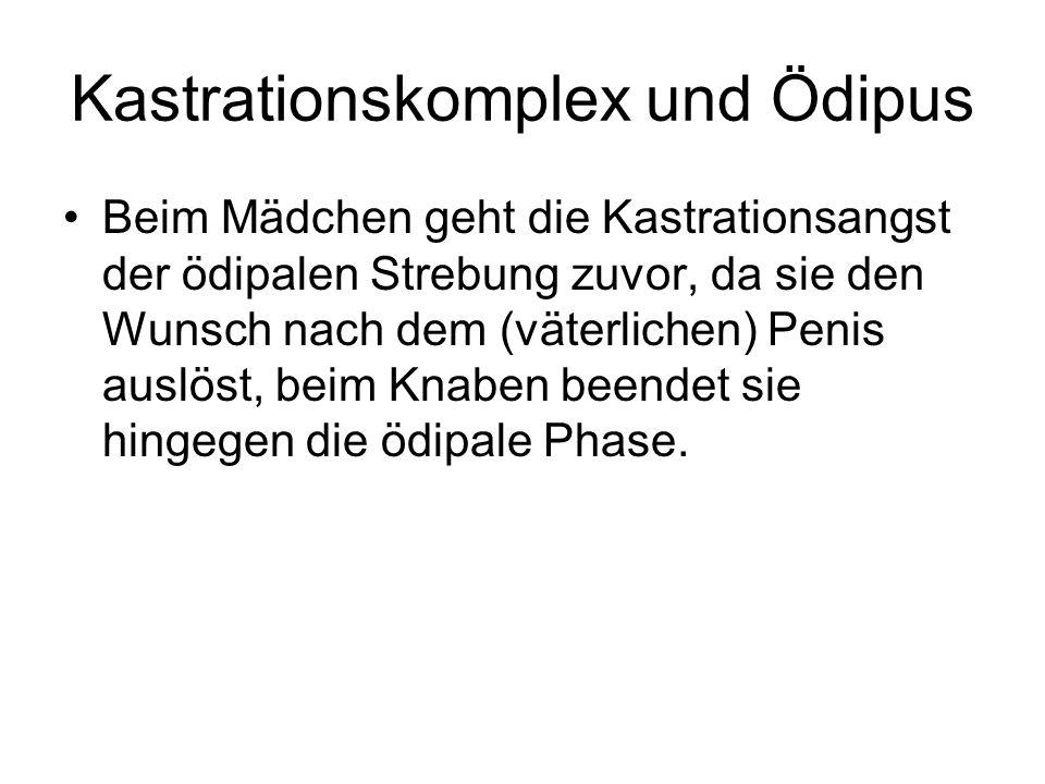 Kastrationskomplex und Ödipus