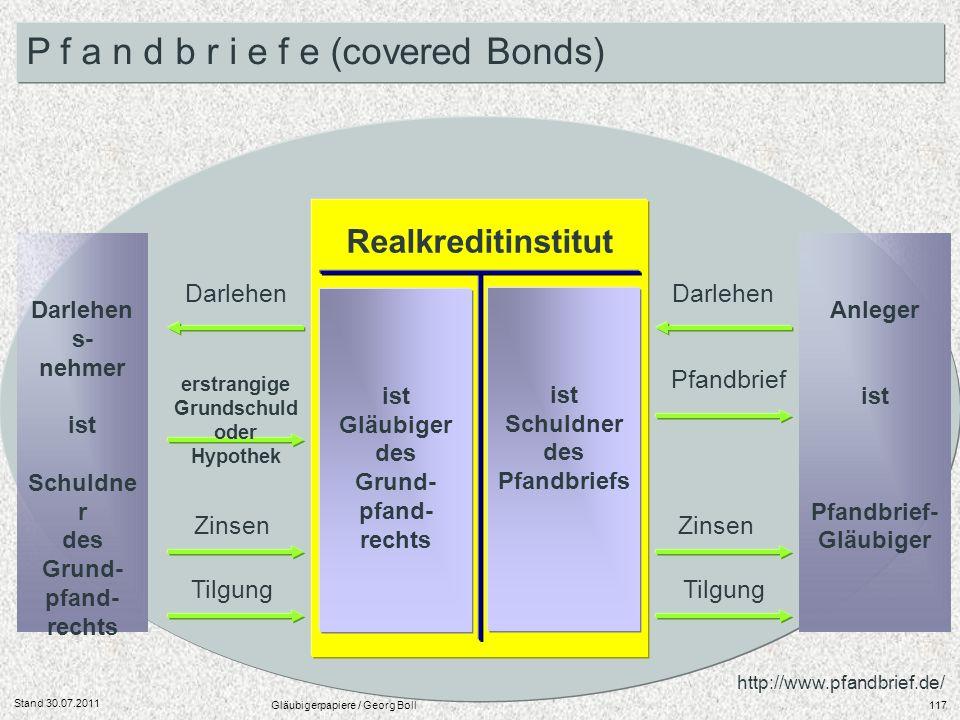 des Grund- pfand- rechts erstrangige Grundschuld oder Hypothek
