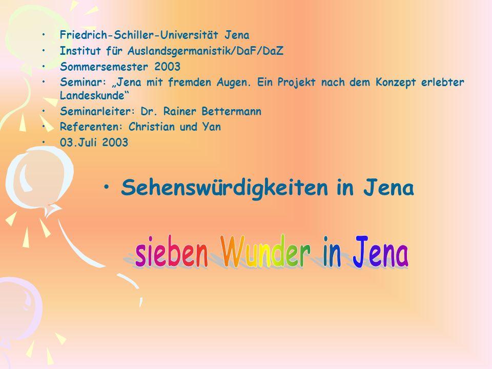 Sehenswürdigkeiten in Jena