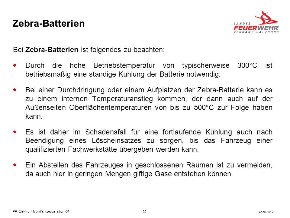 Zebra-Batterien Bei Zebra-Batterien ist folgendes zu beachten: