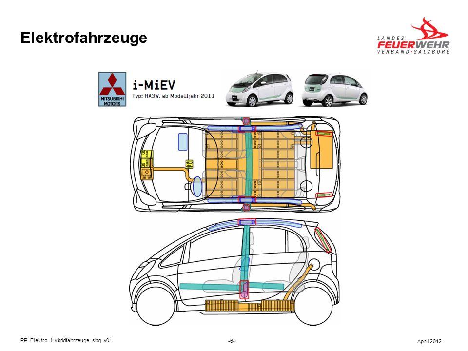 Elektrofahrzeuge In Elektro- und Hybridfahrzeuge sind aus sicherheitstechnischer Sicht 2 Komponenten zu beachten: