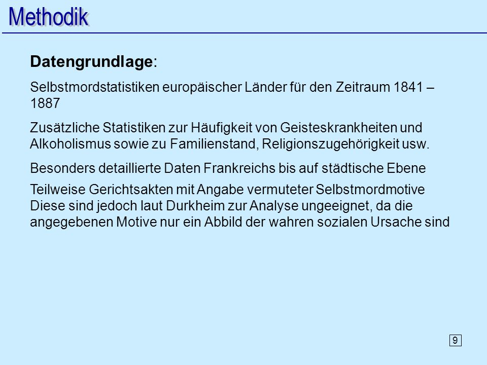 Methodik Datengrundlage: