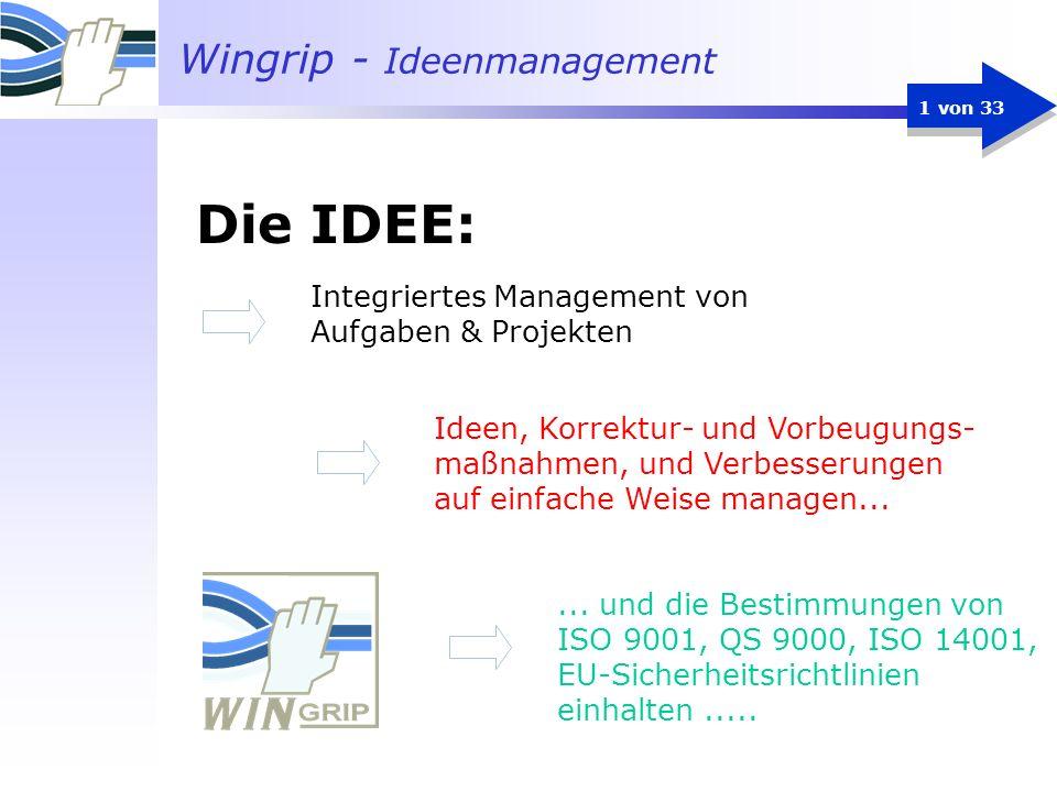 Die IDEE: Integriertes Management von Aufgaben & Projekten