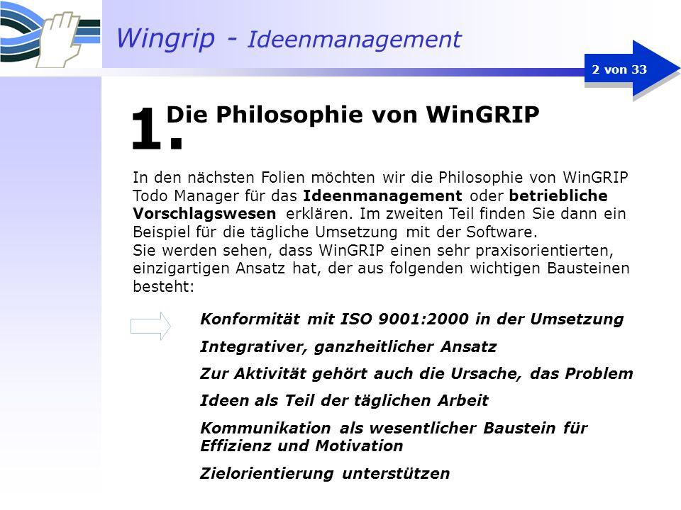 Die Philosophie von WinGRIP