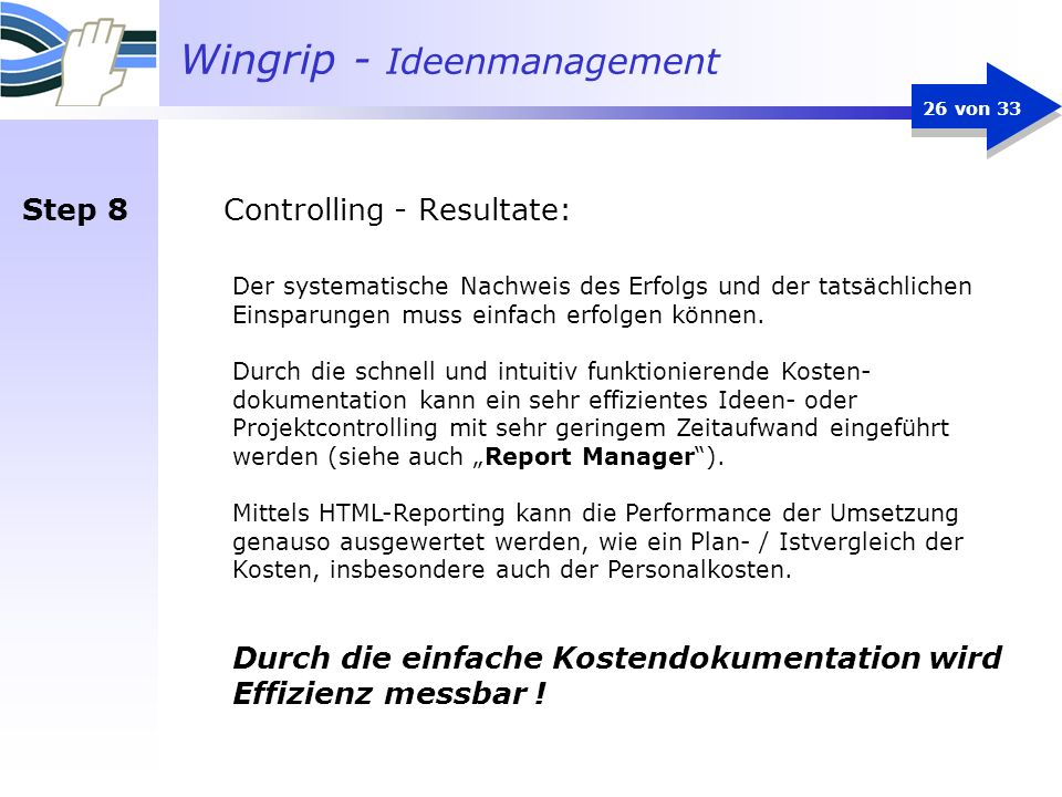 Controlling - Resultate: