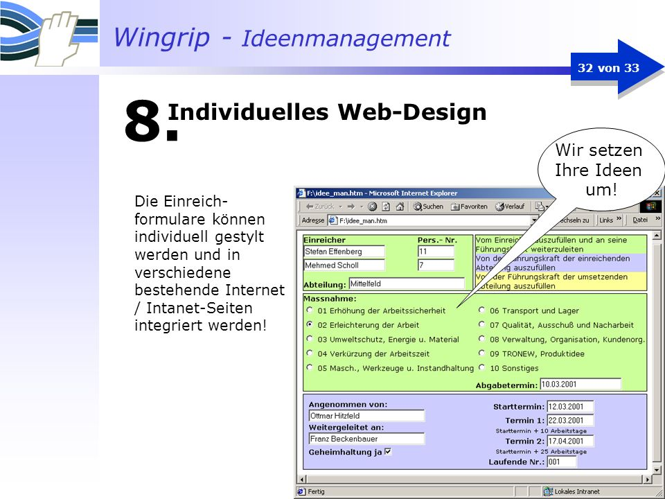 Individuelles Web-Design