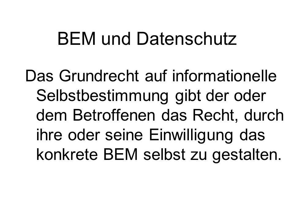 BEM und Datenschutz