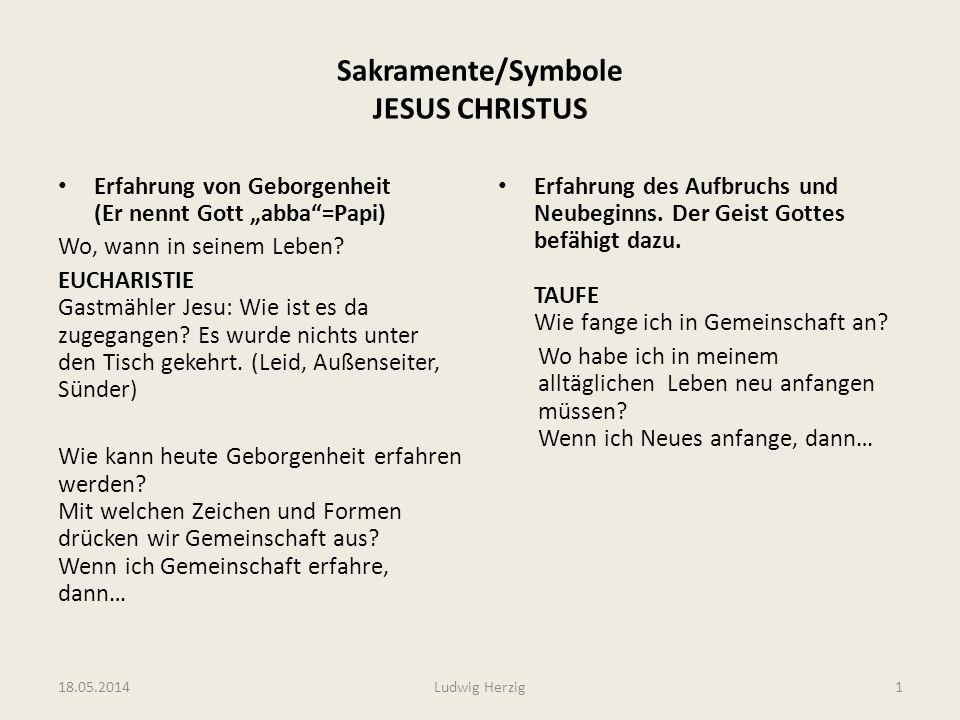Sakramente/Symbole JESUS CHRISTUS