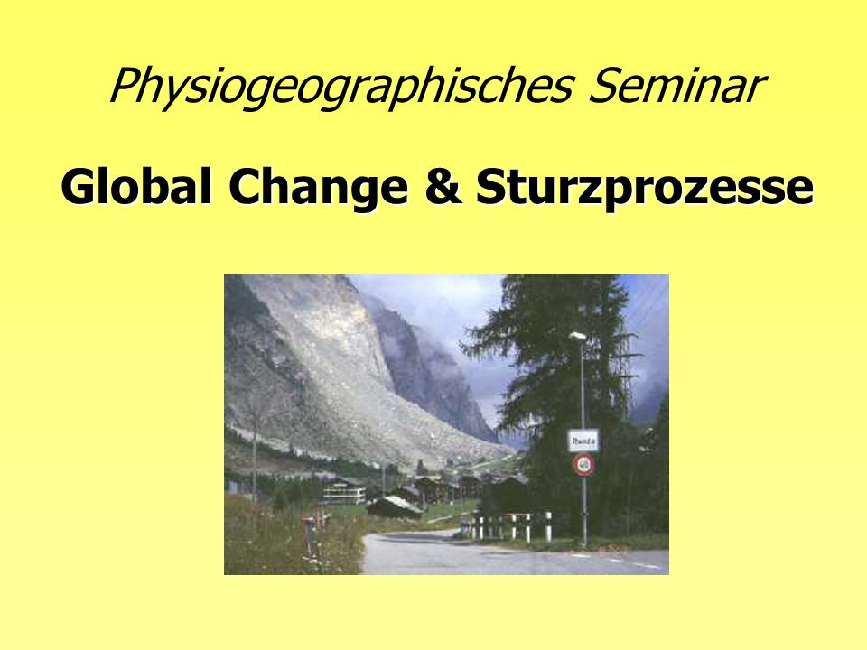 Physiogeographisches Seminar